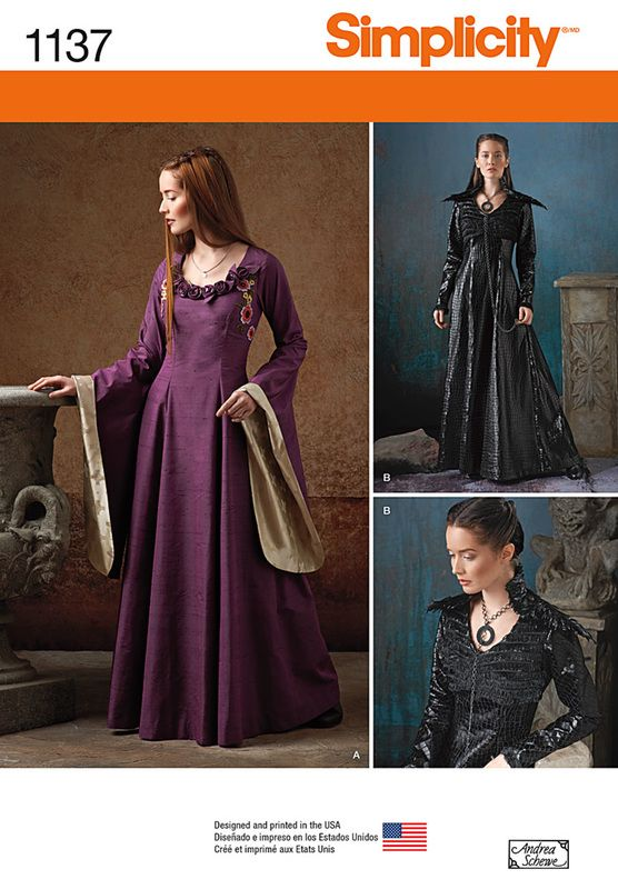 Simplicity pattern 1137 - Sansa's black dress! Can't wait til the next pattern sale at Jo-Ann's! -SB