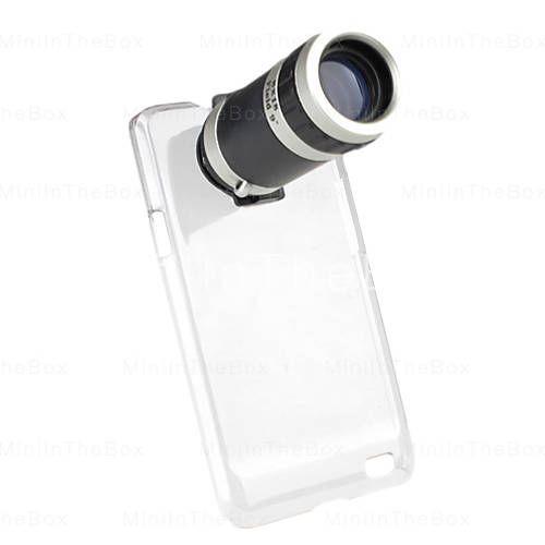 telescopio zoom 8x obiettivo della fotocamera con custodia per Samsung Galaxy S2 i9100