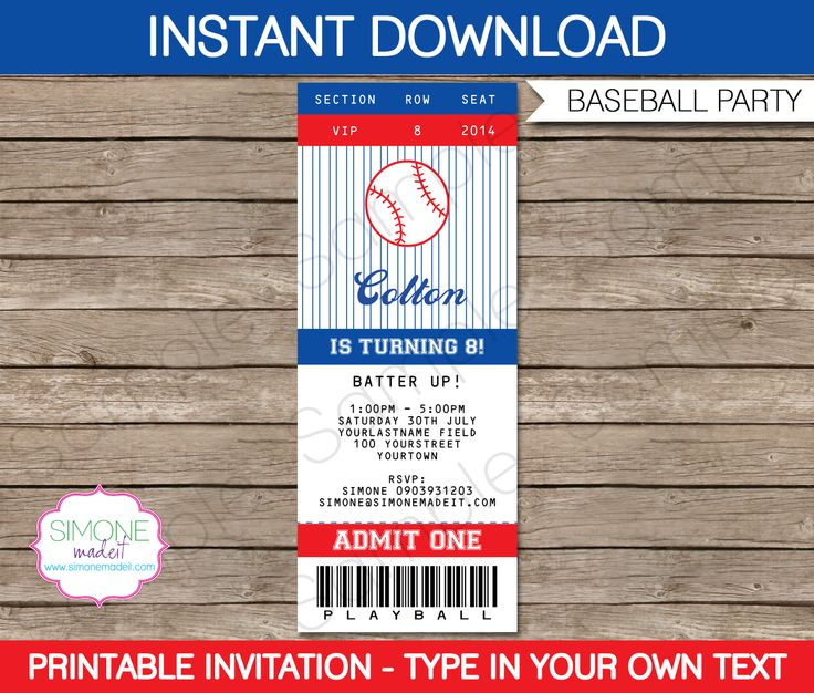 Best 25+ Baseball tickets ideas on Pinterest Ticket invitation - print your own tickets template free