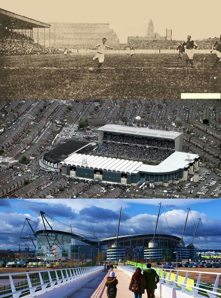 Hyde Road, Maine Road & Etihad Stadium, The 3 Homes of Manchester City