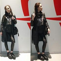 Viktoria Bivol - Stradivarius Shirt, Primadonna Shoes, Jennyfer Jacket, Jennyfer Trousers - Rock style