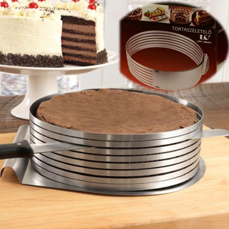 Adjustable Layered Cake Slicer Stainless Steel Round Ring
