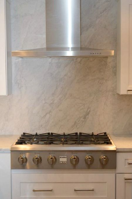 solid marble behind stove