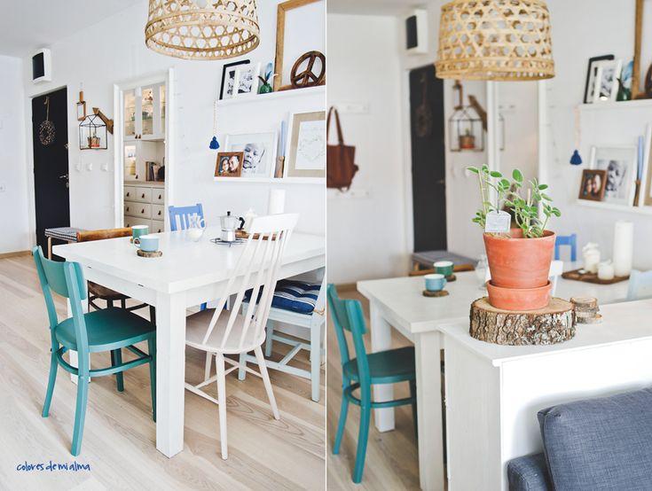 Wnętrza z duszą: mieszkanie Izy pełne projektów DIY i kolorów.