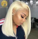613 Blonde Short Bob Wigs For Black Women Bob Human Hair Wigs Lace Front Human Hair Wig