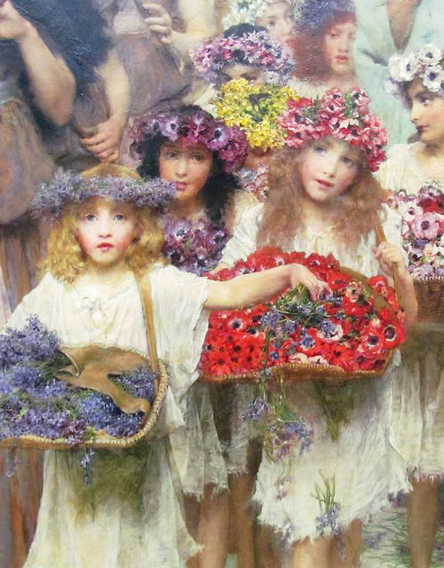 Lawrence Alma-Tadema. Detail from Spring, 1894.