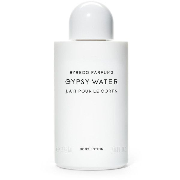 Byredo Gypsy Water Lait Pour Le Corps Body Lotion (€61) ❤ liked on Polyvore featuring beauty products, bath & body products, body moisturizers, fillers, beauty, makeup, cosmetics, white, bath & body and byredo