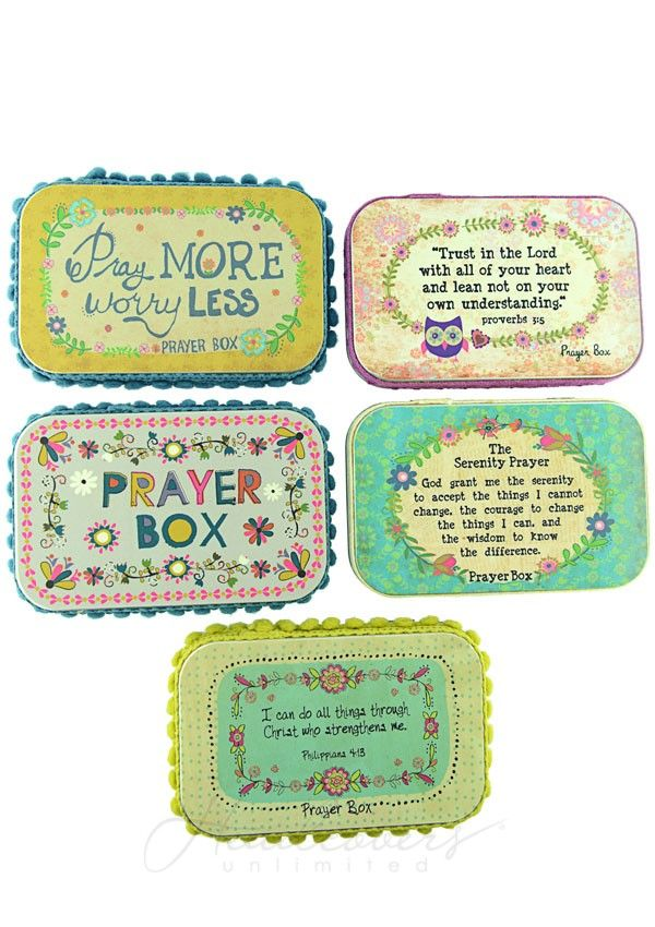 Tin Prayer Box - Cancer Patient Gift | Headcovers.com