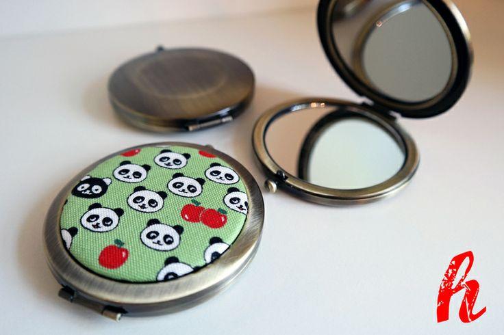 """Taschenspiegel """"Panda"""" von HABSELIGKEITEN auf DaWanda.com"""