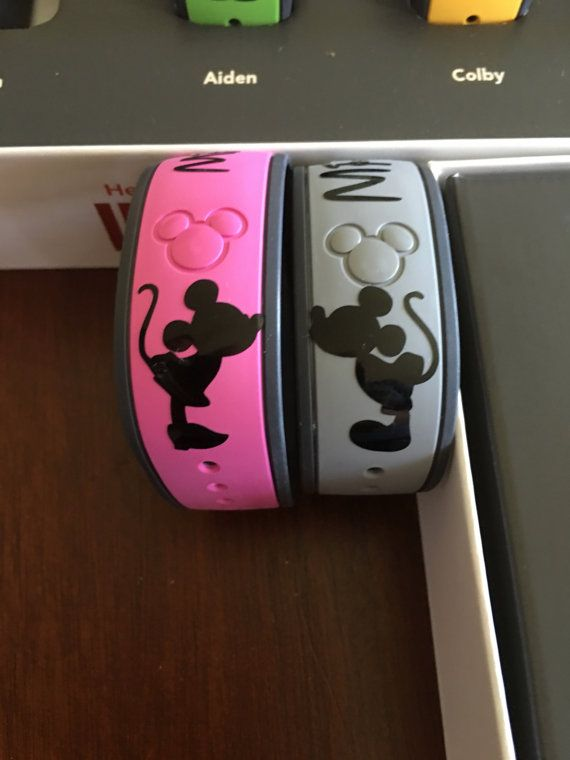 Mickey and Minnie Magic Band Decals by PinnedProjects on Etsy