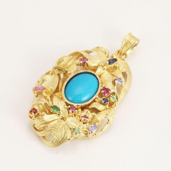 【中古】K18 ターコイズ トップ/新品同様・極美品・美品の中古ブランド時計を格安で提供いたします。