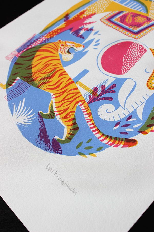3-colour screenprints.