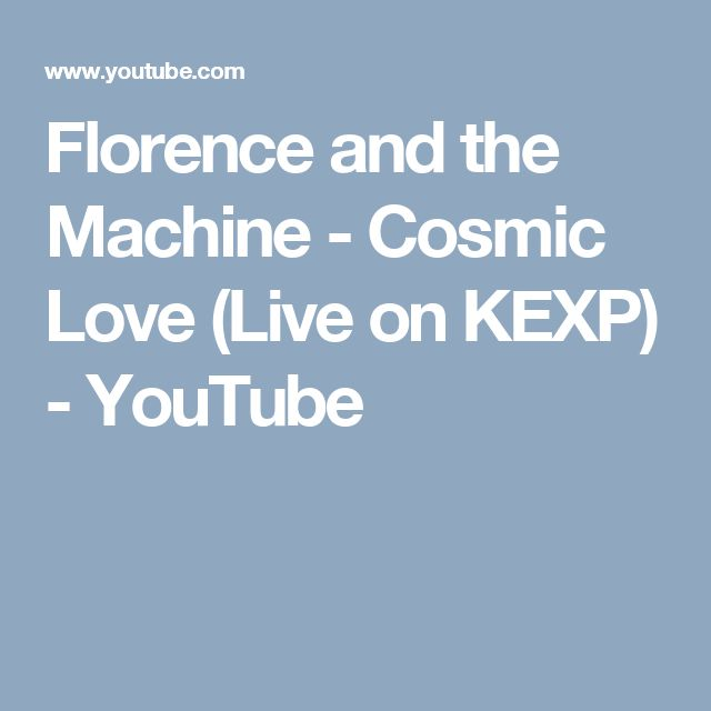 Florence and the Machine - Cosmic Love (Live on KEXP) - YouTube