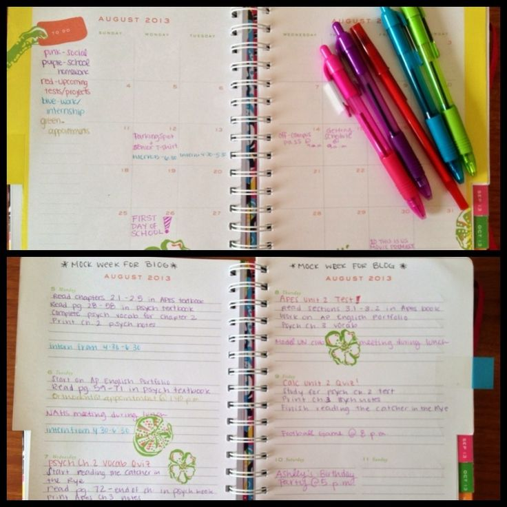 There are two types of people in this world—people who like to color code their planners and people who don't use their color-coded plan