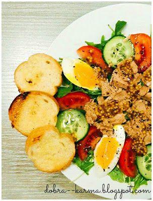 Dobra karma: Sałatka z rukolą i tuńczykiem