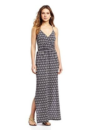 58% OFF OndadeMar Women's Ania Long Dress Cover Up (Navy)