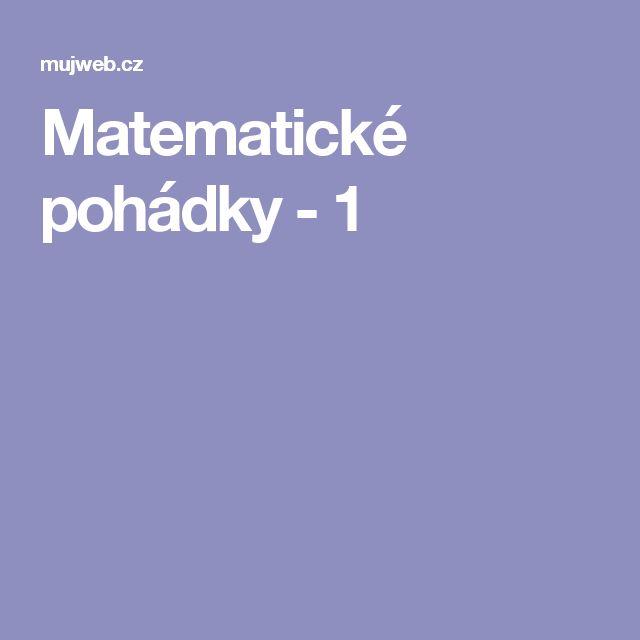 Matematické pohádky - 1