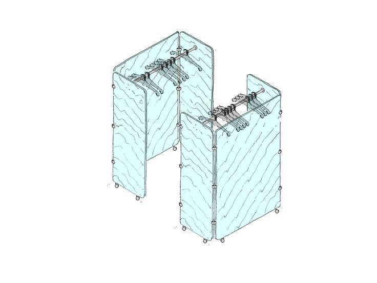 Linea MOMO - Pannelli divisori, pareti mobili, separè su ruote, schermi flessibili, progettazione, produzione e vendita - Clipper System