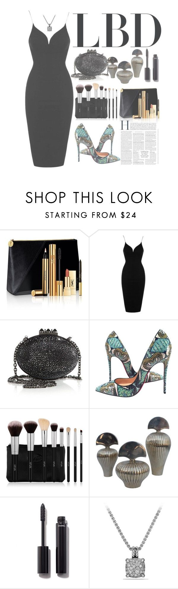 """""""Little Black Dress"""" by forever-lover1 ❤ liked on Polyvore featuring Yves Sain…"""