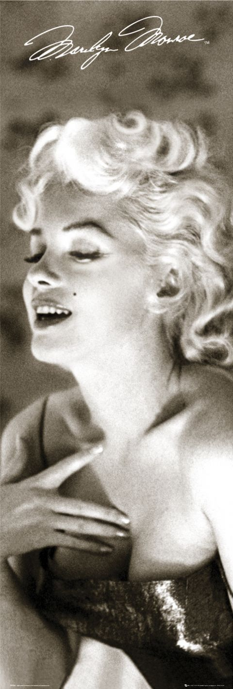 "Chanel No. 5 ~ Marilyn dabs on some of Coco Chanel's famous perfume while getting ready to go see ""Cat on a Hot Tin Roof."" In a famous quote, when asked what she wore to bed, the siren answered, ""Chanel No. 5, of course."""