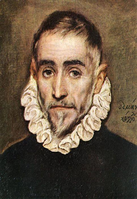Paintings Reproductions El Greco, -Domenikos Theotokopolos  -.*Portrait of an Elder Nobleman,* 1584-1594