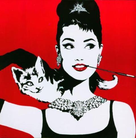 Audrey con gato Antonio de Felipe