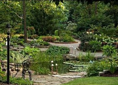 Avon Gardens offers a wonderful garden setting unlike any other in central Indiana. The ceremony area  has three waterfall with ponds and beds bursting with color from perennial and annual #flowers!
