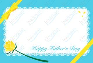 父の日メッセージカード 黄色い薔薇とリボン|テンプレートの無料ダウンロードは【書式の王様】