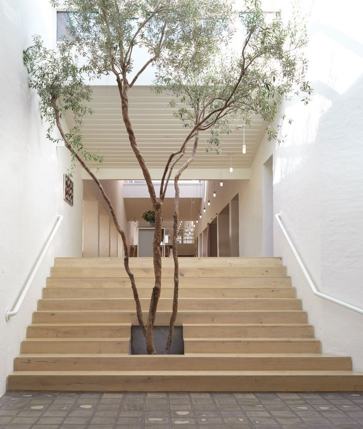 Wooden stairs at Kvadrat HQ - Dinesen HeartOak