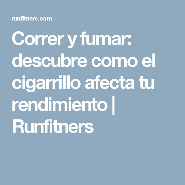 Correr y fumar: descubre como el cigarrillo afecta tu rendimiento | Runfitners