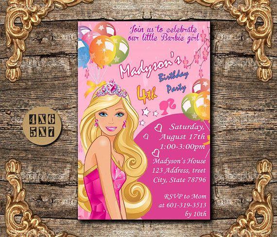 20 Best Barbie Birthday Images On Pinterest