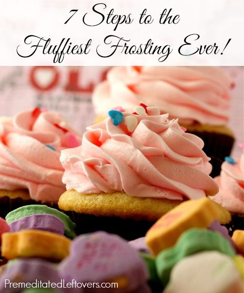 7 Steps to the Fluffiest Frosting Ever! Butter Cream Frosting Recipe and tips for making fluffy frosting.