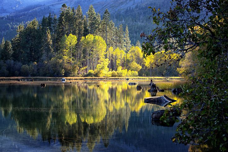 Quiet Fall Evening, North Shore of Fallen Leaf Lake, South Lake Tahoe, CA, Sierra Springs Photography
