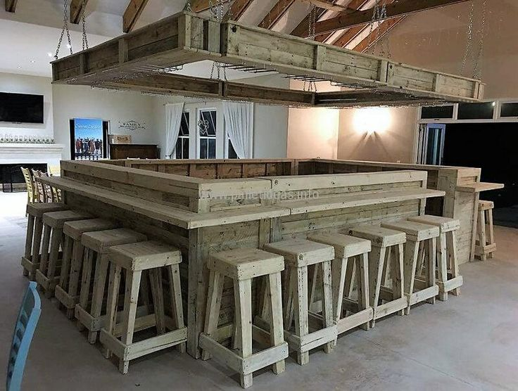 recycled pallets wooden bar plan