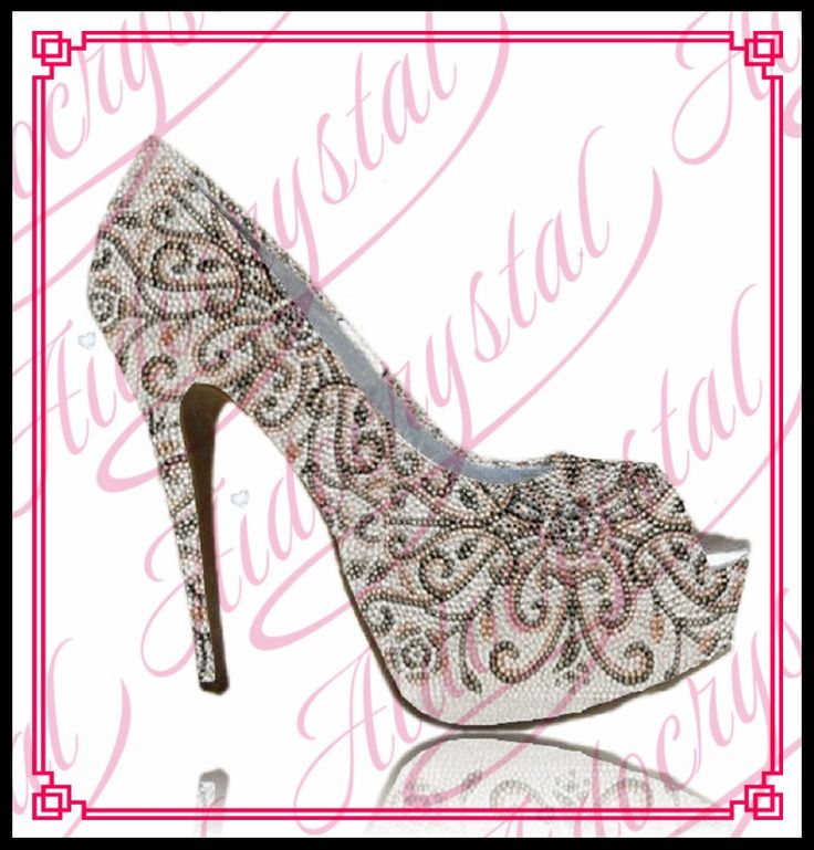 228.00$  Buy here - http://alib9z.worldwells.pw/go.php?t=32761269430 - Aidocrystal 2016 latest party wear peep toe crystal high heel 12cm beautiful Decorative pattern women pump shoes for ladies 228.00$