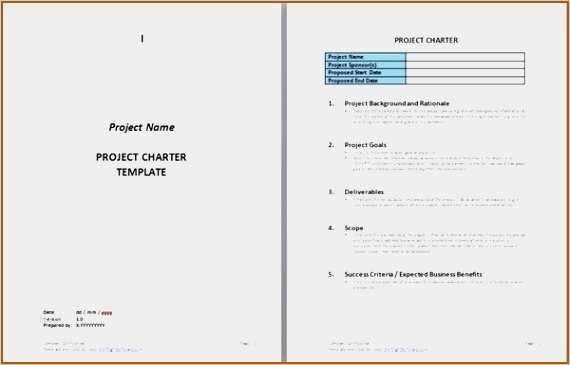 40 Einzigartig Project Charter Vorlage Galerie In 2020 Vorlagen
