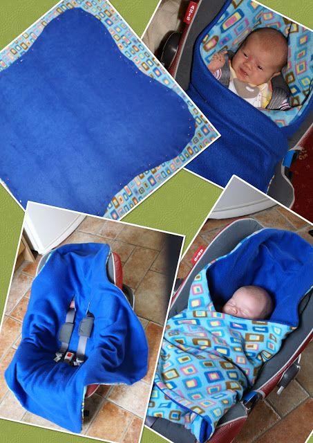 Managing The Mayhem: Homemade Car Seat Blanket