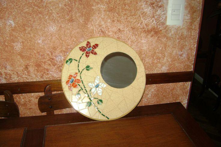 Espejo - Venecitas y mosaico