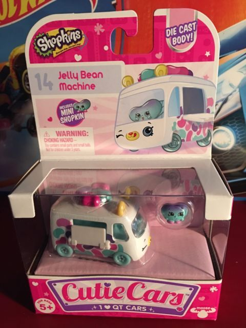 New Shopkins Cutie Cars Jelly Bean Machine  #14 with Mini Shopkin!