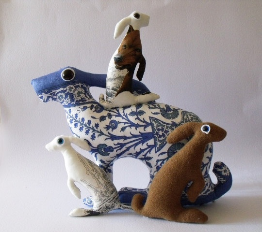 Annette/TheLeveretsNest - Mother Hare Persia Soft Sculpture who teaches the value of swimming safely