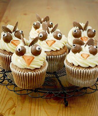@KatieSheaDesign ♡❤ #Cupcakes ❤♡ ♥ ❥ Halloween Owl Cupcakes