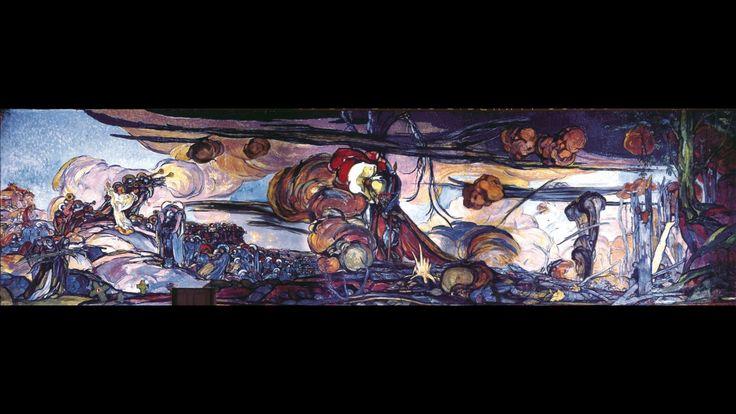 Georges Desvallières. Le Sacrifice de la guerre, 1922, Chapelle de Saint-Privat. 375 x 1273 cm