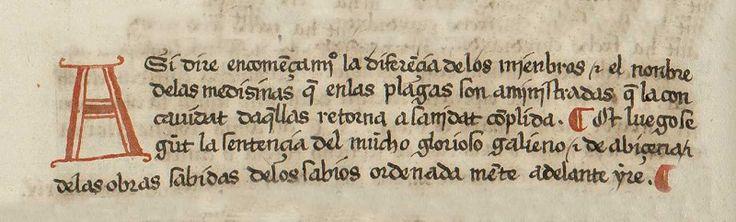 Detalle: Letra capital y calderones #TesorosBUG Cirugía ... 1509. [BHR/Caja Ms-1-033]. #BibliotecaUGR