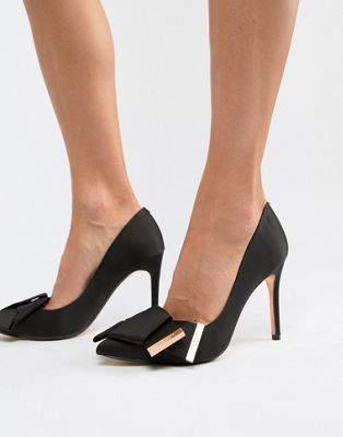 d478835894b Ted Baker Bow Detail Satin Heeled Pumps in 2019