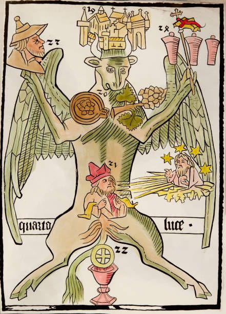 Manuscript 'Ars memorandi notabilis per figuras evangelistarum' Woodcut Paris Arts Decoratifs c659
