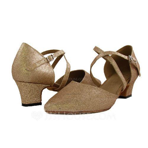 Women's Modern Heels Sparkling Glitter Ankle Strap Dance Shoes