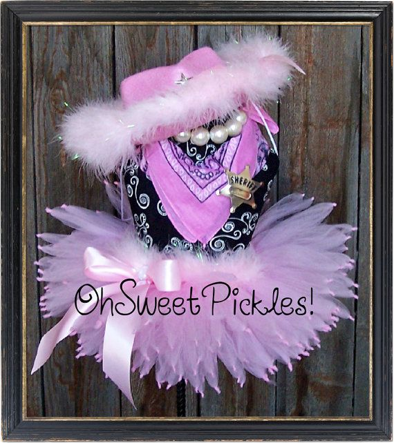 Deluxe - STRAIGHT-SHOOTIN' Cowgirl - Halloween Costume PETTI Tutu & Cowgirl Hat  - Sizes 0, 3, 6, 9, 12, 18, 24 Months, 2t, 3t, 4t, 5t