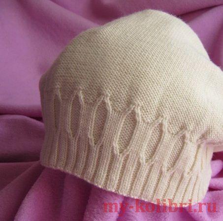 Двойная шапка спицами «Savage»