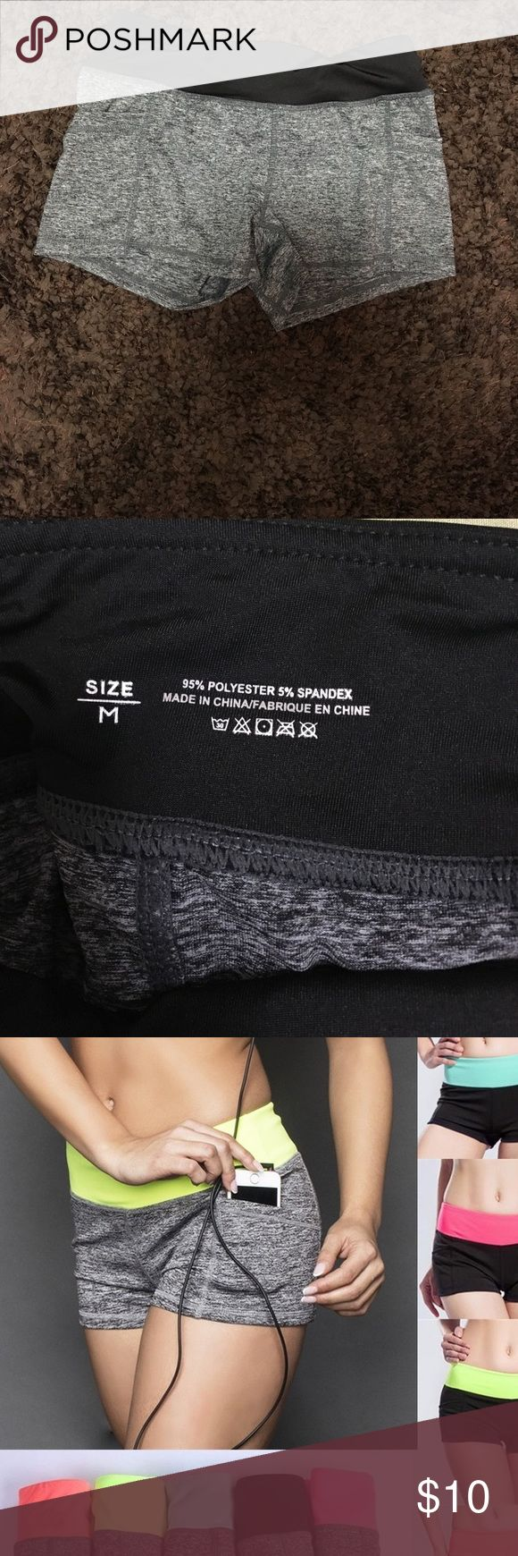 Spandex shorts black and gray only Spandex shorts with pocket. They run small! So more for XS-S ! Shorts