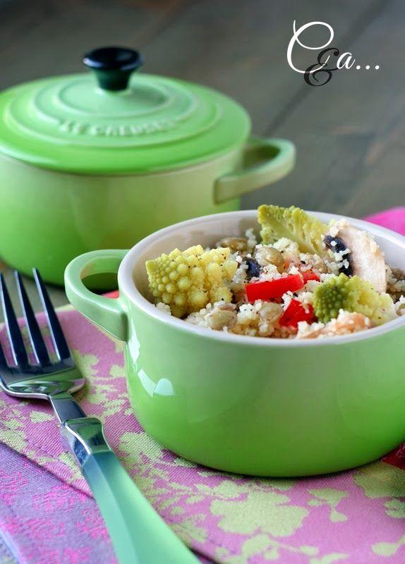 Cucinando e assaggiando...: Insalata cruda e cotta di cous cous (vegetariana)